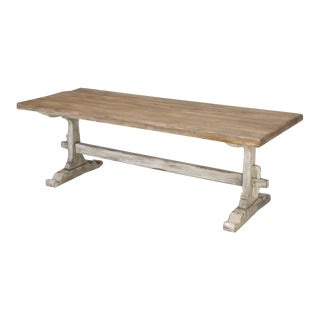 Restored Country French Trestle Dining Table For Sale