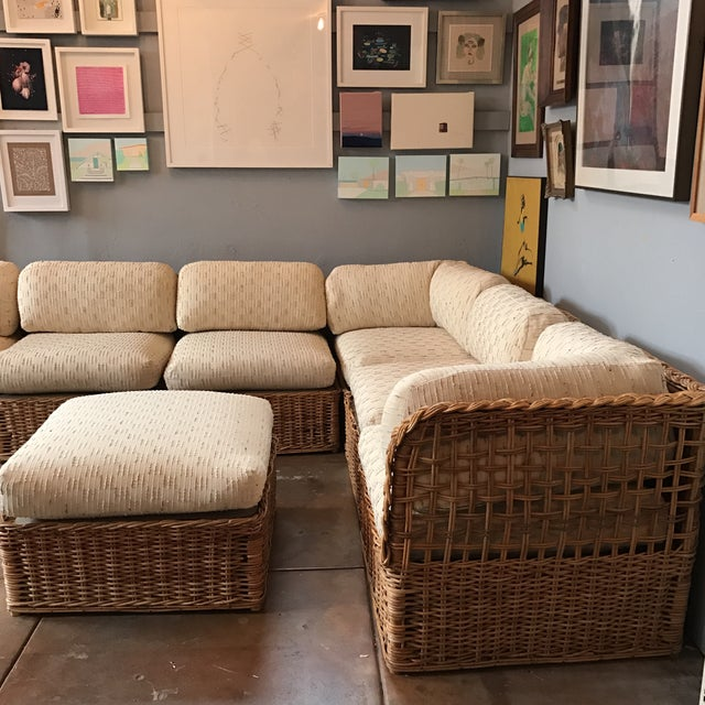 Astounding Vintage Rattan Sectional Sofa Set Inzonedesignstudio Interior Chair Design Inzonedesignstudiocom