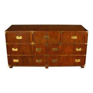 Mahogany Baker Campaign Style Chest For Sale