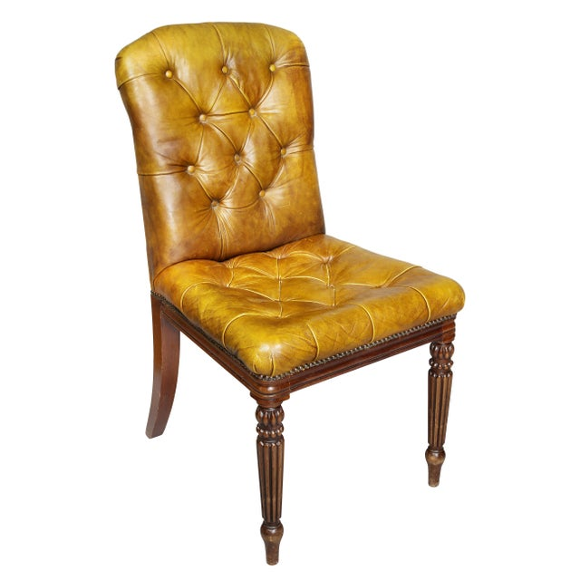 1940s Regency Style Mahogany Dining Room / Conference Room Chairs - Set of 20 For Sale - Image 5 of 11