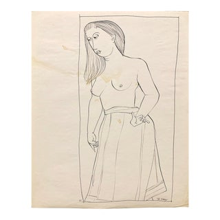 """Donald Stacy """"Topless"""" 1952 Ink on paper 14""""x16.5"""" For Sale"""