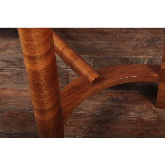 Wood 1930s Art Deco Walnut Folding Tea Table For Sale - Image 7 of 12