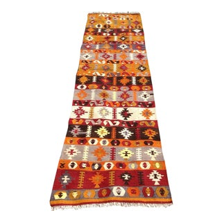 "Vintage Turkish Kilim Runner - 2'6"" X 9'10"" For Sale"