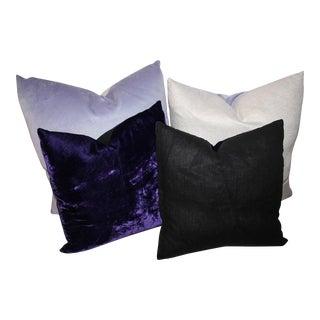 Purple and Lavender Velvet Pillows For Sale