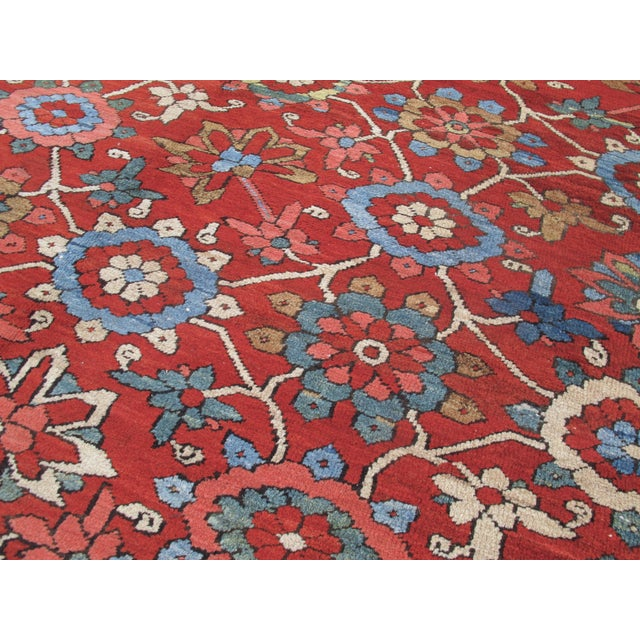 "Gold ""Mina Khani"" Design Serapi Carpet For Sale - Image 8 of 8"