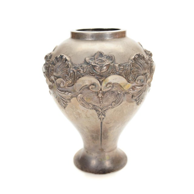Topazio 19th Century Silver Repousse Vase - Image 4 of 8