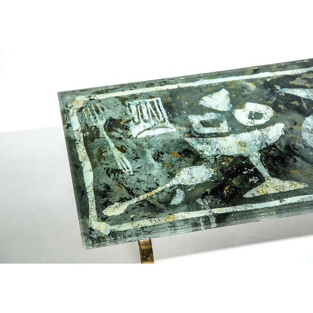 Metal Fontana Arte Dubé (Duilio Bernabe) Coffee Table, Circa 1950s For Sale - Image 7 of 8