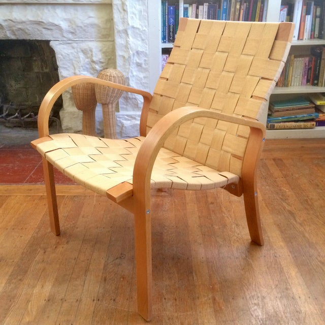 1990s 1990s Vintage Bruno Mathsson Style Molded Plywood Armchair For Sale - Image 5 of 9