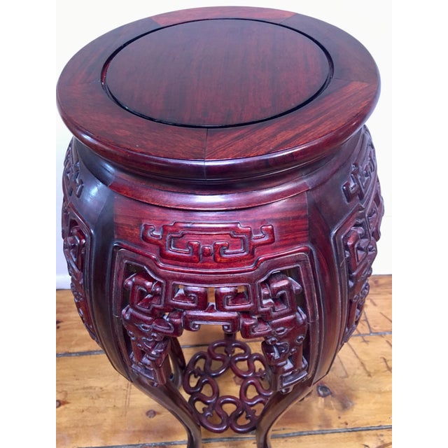 1940s Chinese Rosewood Pedestal Table For Sale In Santa Fe - Image 6 of 7