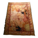Image of Antique Pastoral Scene Wool Tapestry For Sale