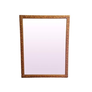 Rectangular Carved Gold Mirror For Sale