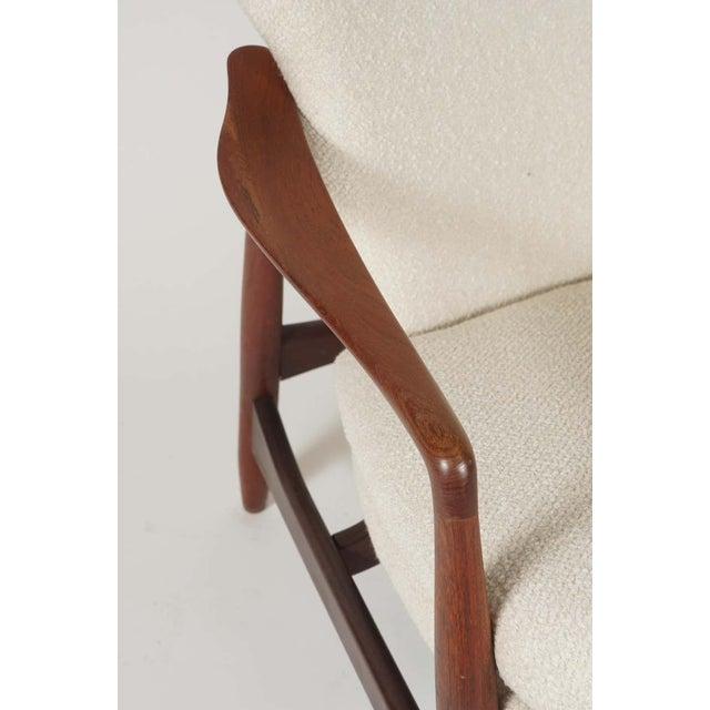 Sculptural Ib Kofod Larsen Midcentury Teak Frame Lounge Armchair From Denmark For Sale In New York - Image 6 of 8