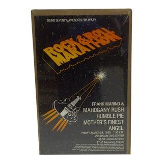 "Circa 1980 Vintage ""Concert Marathon"" Poster For Sale"