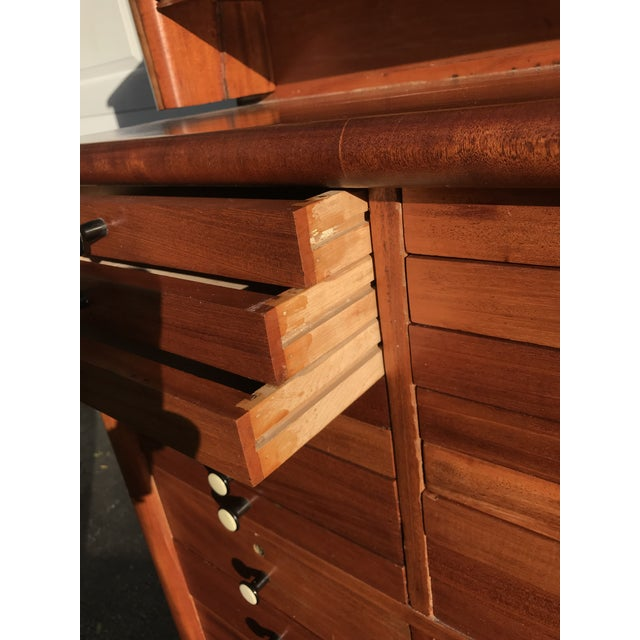 Early 20th Century Early 20th Century Antique Art Deco Teak and Marble Dentist's Chest For Sale - Image 5 of 12