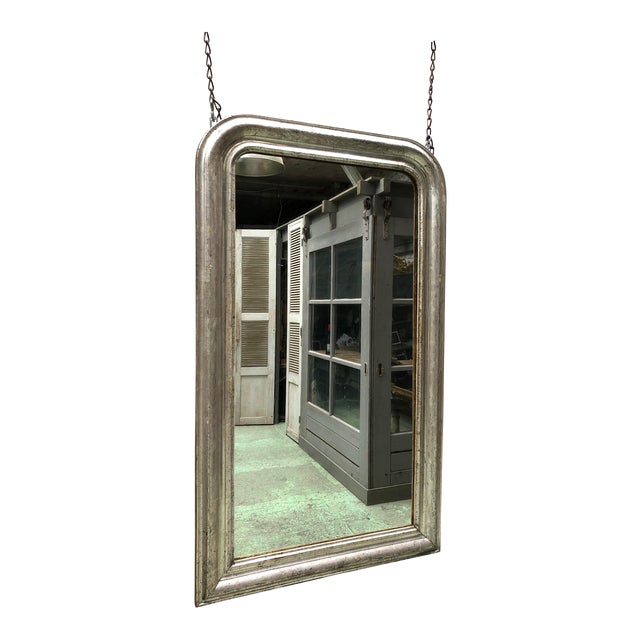 NIce 19th Century Silver Mirror For Sale