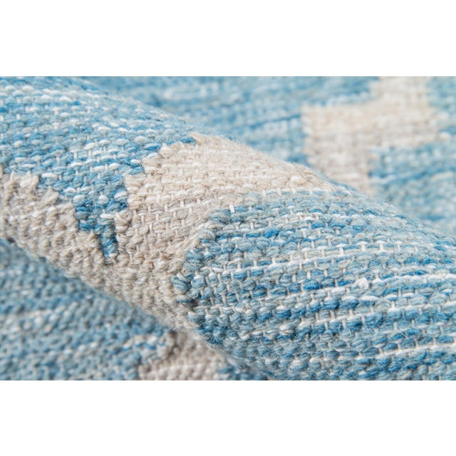 "Momeni Caravan Hand Woven Blue Wool Area Rug - 5' X 7'6"" For Sale - Image 4 of 6"