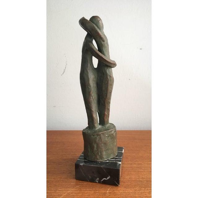 "Mid-Century Modern Alva Studios Modernist ""Lovers"" Sculpture For Sale - Image 3 of 9"