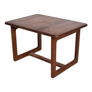 Mid Century Danish Modern Solid Teak Side Tables Finn Juhl Attr For Sale