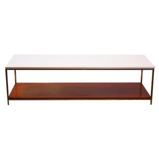 Mid-Century Bronze and Vitrolite Coffee Table by Paul McCobb For Sale