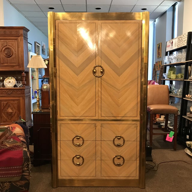 Mastercraft Zebrano Mid-Century Armoire For Sale - Image 11 of 11