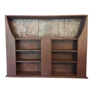 Early 19th Century Red Rustic Dutch Shelf Cabinet For Sale