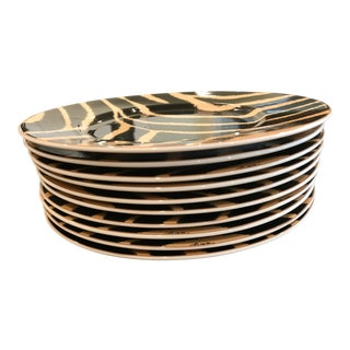 Ralph Lauren Safari Zebra Dessert Plates - Set of 10