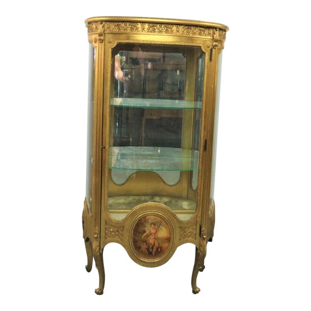 Vernis Martin French Curio Cabinet For Sale
