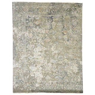 Transitional Area Rug With Oushak Pattern - 8′ × 10′ For Sale