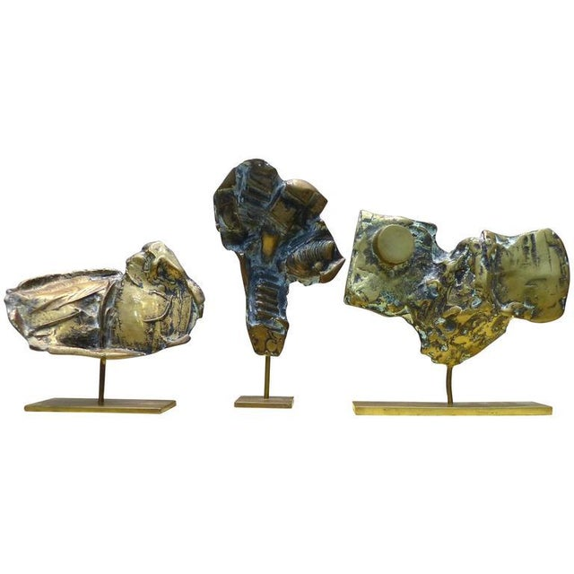 Bronze Sculptures by Cacipore Torres, Brazil 1935 - Set of 3 For Sale - Image 11 of 11