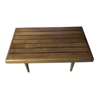 20th Century Vintage Brutalist Slat Table Bench For Sale