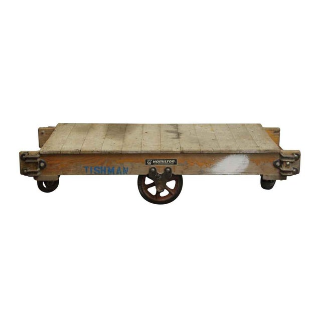 Early 20th Century Vintage Wooden Factory Cart For Sale - Image 5 of 5