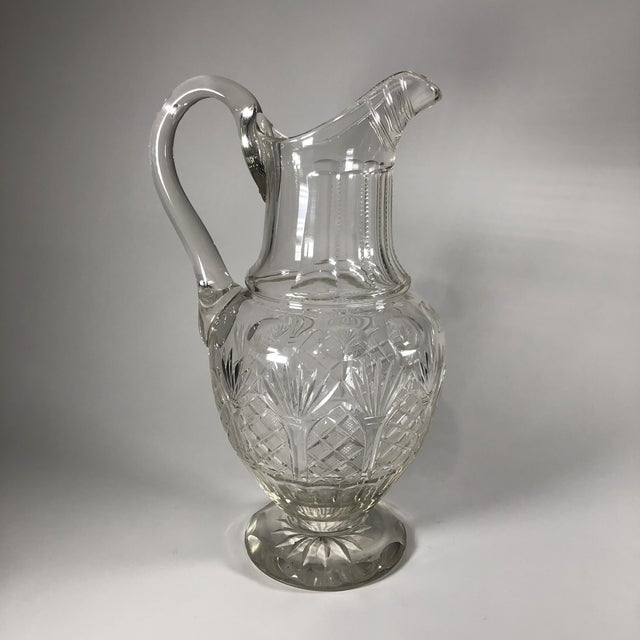 Early 19th Century Georgian Anglo-Irish Cut Crystal Champagne Pitcher For Sale - Image 4 of 8