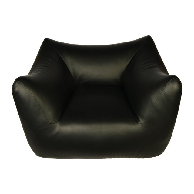 1980s Vintage Overstuffed Lounge Chair For Sale In Dallas - Image 6 of 6