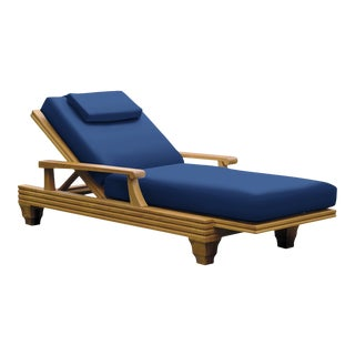 Giati Palazzio Chaise Lounge in Pacific Blue For Sale
