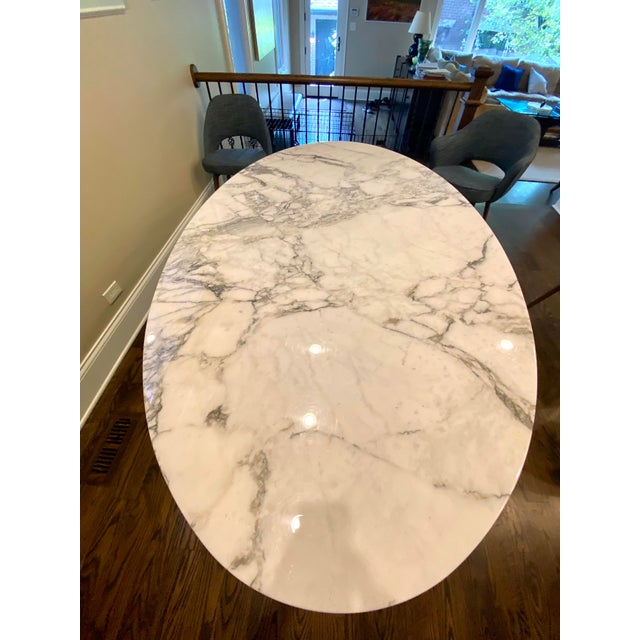Modern Knoll Saarinen Oval Tulip Dining Table For Sale - Image 3 of 6