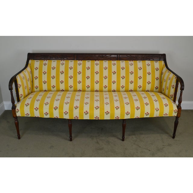 High Quality American Made Solid Mahogany Frame Sofa by Southwood