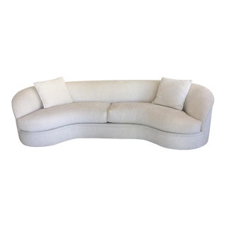 Mid-Century Modern Vadimir Kagan Biomorphic Curved Sofa For Sale