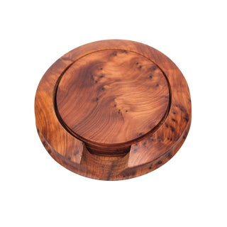 Handcrafted Thuya Wood Coasters - Set of 7
