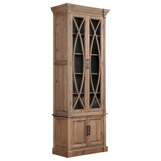 Traditional Tall Display/ Storage Cabinet For Sale