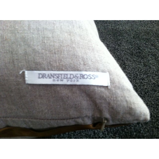 Dransfield and Ross Twisted Ribbon Pillow For Sale - Image 4 of 4