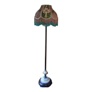 1920's Victorian Floor Lamp With Night Lights
