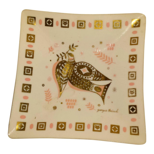 Georges Briard Pink & Gold Dove Dish - Image 1 of 8
