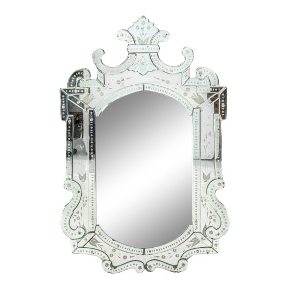 Mid 20th Century Etched Venetian Mirror For Sale