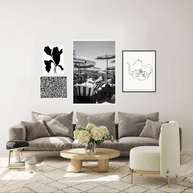 Black and White Gallery Wall, Set of 4 For Sale - Image 4 of 11