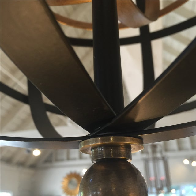 Large Round Orb Pendant Light For Sale - Image 9 of 9