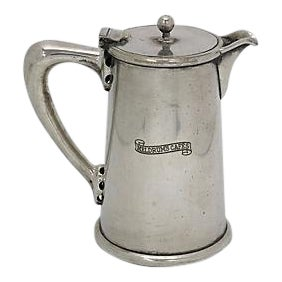 Vintage English Hotelware Silver-Plate Tea Jug
