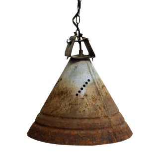 Industrial Tin Cone Lights - Set of 3