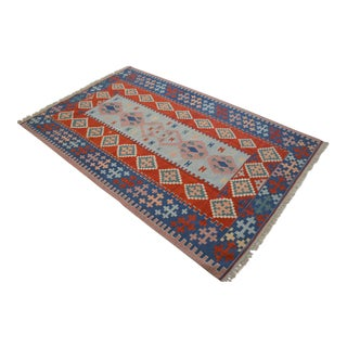 7x10 Rug Hand Woven Turkish Oushak Kilim Wool Rug New - 6′6″ × 10′ For Sale
