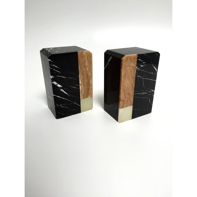 Post-Modern Marble Bookends - A Pair - Image 3 of 9
