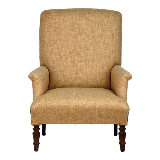 Mid 19th Century Low Napoleon III Bergere For Sale